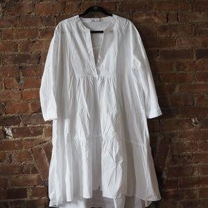 Zara Long Poplin Dress